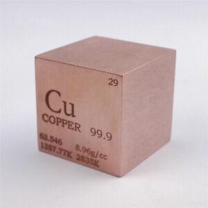 Kupfer Metall 25.4mm Würfel 99.9% Markiert Periodensystem Elementesammlung