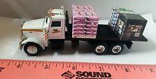 1/64 CUSTOM ERTL farm toy peterbilt dekalb seed flatbed delivery truck 4 pallets