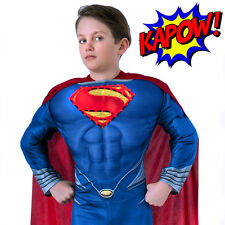 Superman Boys Costume Super Hero Light-up Deluxe Muscle Chest Licensed S: M 5-7y