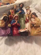 10x8 Nativity Scene Holiday Season Indoor Tabletop Christmas Decorations New