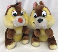 "Chip N Dale Walt Disney Plush 6"" Chipmunks Stuffed Animal"