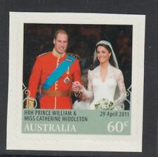 AUSTRALIA 2011 - ROYAL WEDDING 60c P&S Single Stamp MNH 29th April 2011
