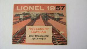 Lionel 1957 Accessory Catalog -original