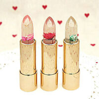 Lady Color Changing Magic Jelly Gold foil Moisturizing Lipstick Flower Lip Gloss