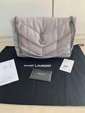 Orig. Saint Laurent Loulou Puffer Tasche Bag Granite Hellgrau Fullset Neu