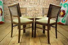 Art Deco 4x Stühle Set Esszimmer Stuhl Bauhaus Wiener Geflecht Küchenstühle 30er