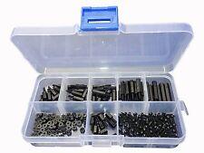 LU-CC 180Pcs M2 Black Nylon Spacers Hex Nut Screw Stand-off Plastic Accesories