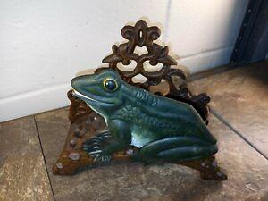 Vintage Cast Iron - Garden Hose Reel - Iron Frog