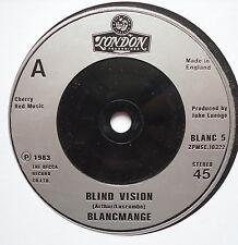 "BLANCMANGE - Blind Vision - Excellent Condition 7"" Single London BLANC 5"