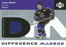 (HCW) 2002-03 Upper Deck Difference Makers JASON ALLISON Jersey Game-Used 00750
