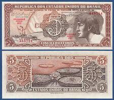 BRASILIEN / BRAZIL 5 Cruzeiros (1961-62)  UNC  P.166 b