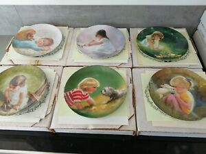 Bradford Exchange collector plates full set Childrens Pets series x 6