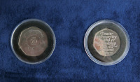 Uncirculated UK Brexit 2020 2 Coin Set EEC Entry 1973 & 2020 Ring of Hand OUT EU