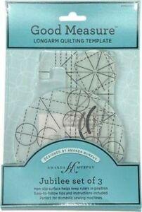 """Good Measure Jubilee 1/4"""" Thick Long Arm Machine Quilting Ruler Set of 3"""