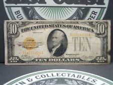 1928 $10 Gold Certificate Note #8  East Coast Coin & Collectables, Inc.