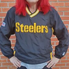 Starter NFL Pro Line Pittsburgh Steelers Pullover Jacket Youth XLarge EUC