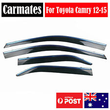 Window Weather Shield Visor For Toyota Camry 12-15 4 Doors double sided tape