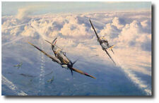 Combat over London by Robert Taylor - Signed by 6 Pilots - Aviation Art Prints