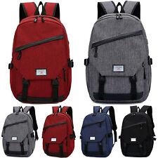 Men Women Travel Backpack USB Charging Port Rucksack Laptop Notebook School Bags