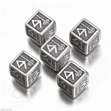 Metallo Dwarven d6 dice Set (5 i cubi da nani acciaio)
