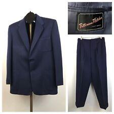 1950s Gabardine Suit / 50s Palm Beach Suit Pleated Pants & Blazer / Small