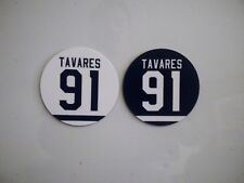 John Tavares Magnets - Jersey Magnet - Set of 2 - Round 2.75 inch White and Blue
