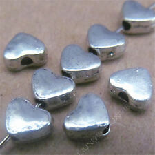 50x Retro Tibetan Silver Small Heart Spacer Beads Accessories DIY Findings N477P