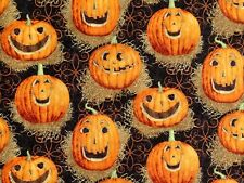 REFLECTION PUMPKINS JACK O LANTERN FABRIC HARVEST  SPRINGS CREATIVE  BY THE YARD