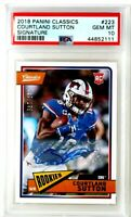 Courtland Sutton PSA 10 MINT Signed Auto Rookie Card RC 2018 Panini Classics