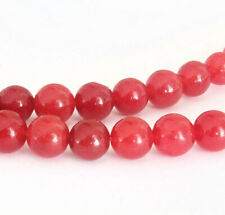 48 Cornell Red Glass Beads 8mm -1 Strand - Bd469