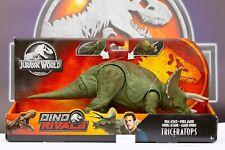 New Jurassic World Roarivores Triceratops Dino Rivals Toy Dinosaur Mattel Park