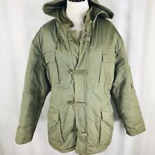 Vintage 60s 70s Greek Army? OD Green Puffer Parka Coat Military Size Large