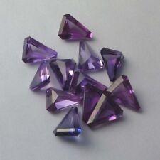 Lot of 10 NICE 14X10MM Triangle Cut Lab Alexandrite Color Corundum Gemstone SALE