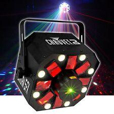 Chauvet Swarm 5 LED Effect Light Package DJ Disco FX Laser Derby 3 in 1 DMX