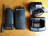 Motorola CP110 UHF Two-way radio compatible with RDU2020. 2 watts / 2 channels