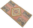 2x3 Ft Small Rug Hand Knotted Turkish Muted Rug Kitchen Rug Bath Mat 52 x 100 cm