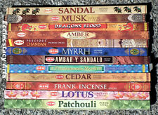 Hem Incense Sampler 12 Boxes x 8 Stick,  96 Incense Sticks Assorted Mixed {:-)