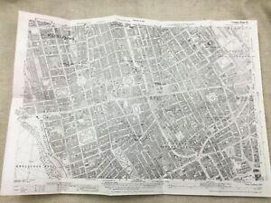 Antique London Map City Street The West End 1914 St James Marylebone