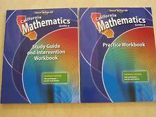 Glencoe McGraw Hill California Mathematics Grade 6 Lot of 2 Workbooks