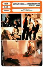 DESPERATE HOURS - Rourke,Hopkins,Cimino(Fiche Cinéma)1990 - La Maison Des Otages