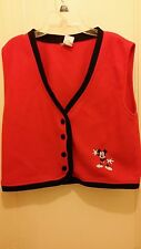 Disney Kids Fleece Vest  Mickey Mouse Medium/Large Red