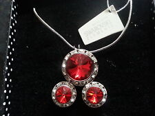Genuine Swarovski Elements Light Siam Red Crystal Gift Boxed Jewellery Set