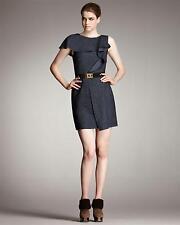 Fendi Belted Ruffle Sheath Dress Sz:40 Retail $1,490 NEW