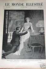 "MONDE ILLUSTRE 1902 N 2363 THEATRE ILLUSTRE ""LE PASSE """