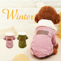 Soft Windproof Fleece Lined Warm Dog Jacket for Puppy Winter Cold Weather Coat/,
