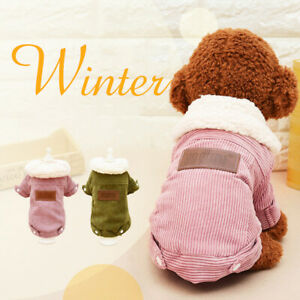 Soft Windproof Fleece Lined Warm Dog Jacket for Puppy Winter Cold Weather Coat~