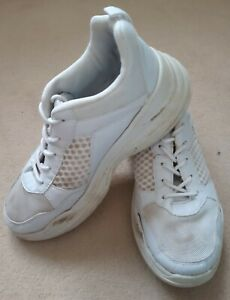 LADIES WHITE TRAINERS SHOES SIZE 6