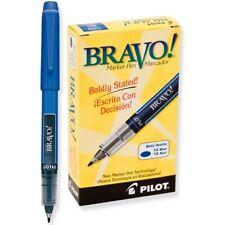 11035 Pilot Bravo Liquid Marker Pen, Bold Tip, Blue Ink, Pack of 24