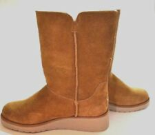 Koolaburra by UGG Classic Slim Short Boot Chestnut Brown Size 6 New