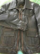 "Vintage Men's 1970s Leather Sears Western Wear ""Fight Club� Jacket- Size 38 Tall"